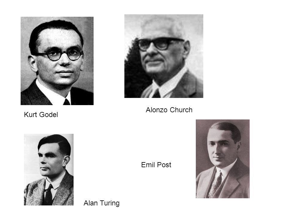 Alonzo Church Kurt Godel Emil Post Alan Turing