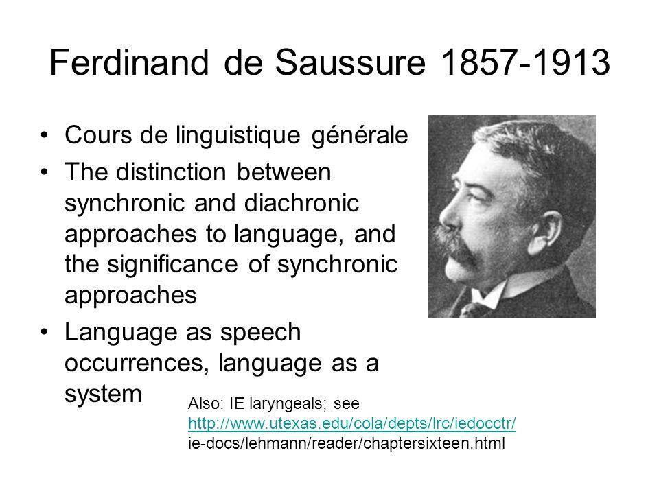 Ferdinand de Saussure 1857-1913
