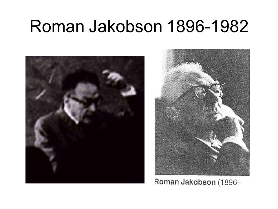 Roman Jakobson 1896-1982