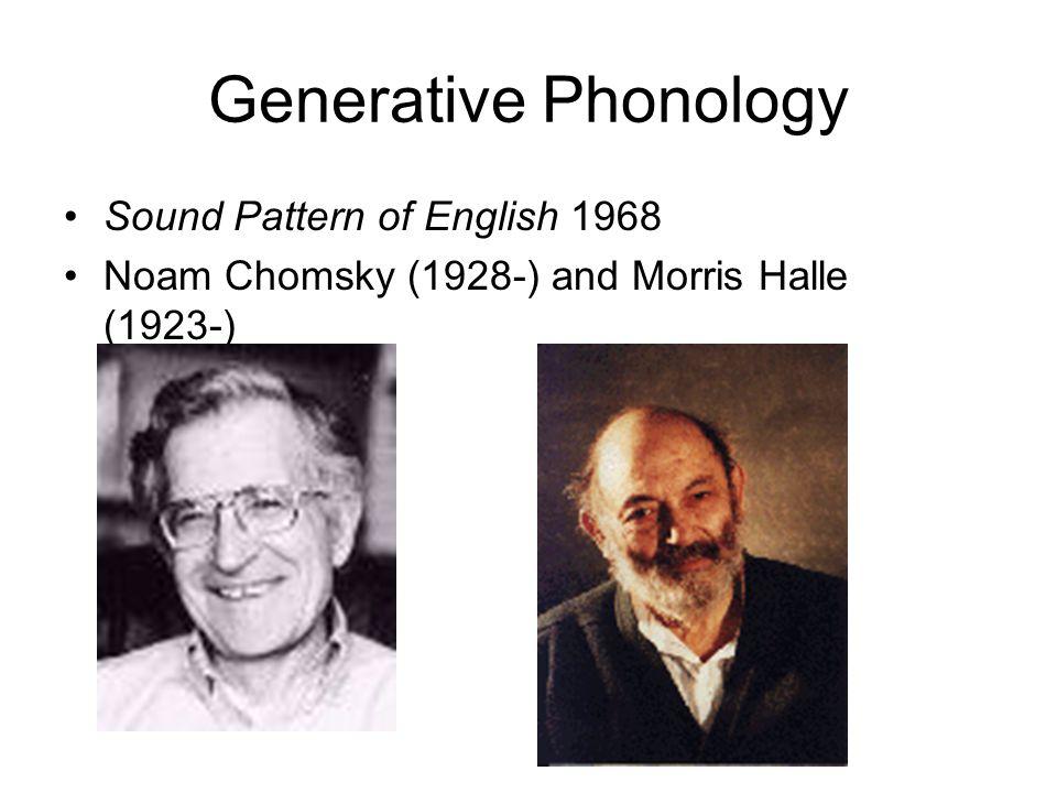Generative Phonology Sound Pattern of English 1968
