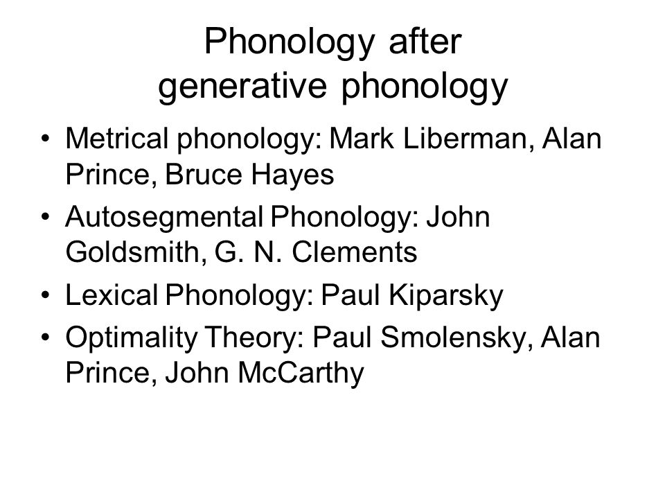 Phonology after generative phonology