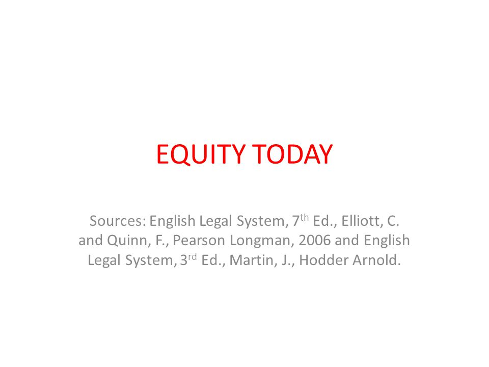 EQUITY TODAY