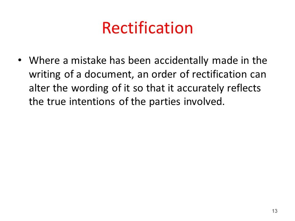 Rectification