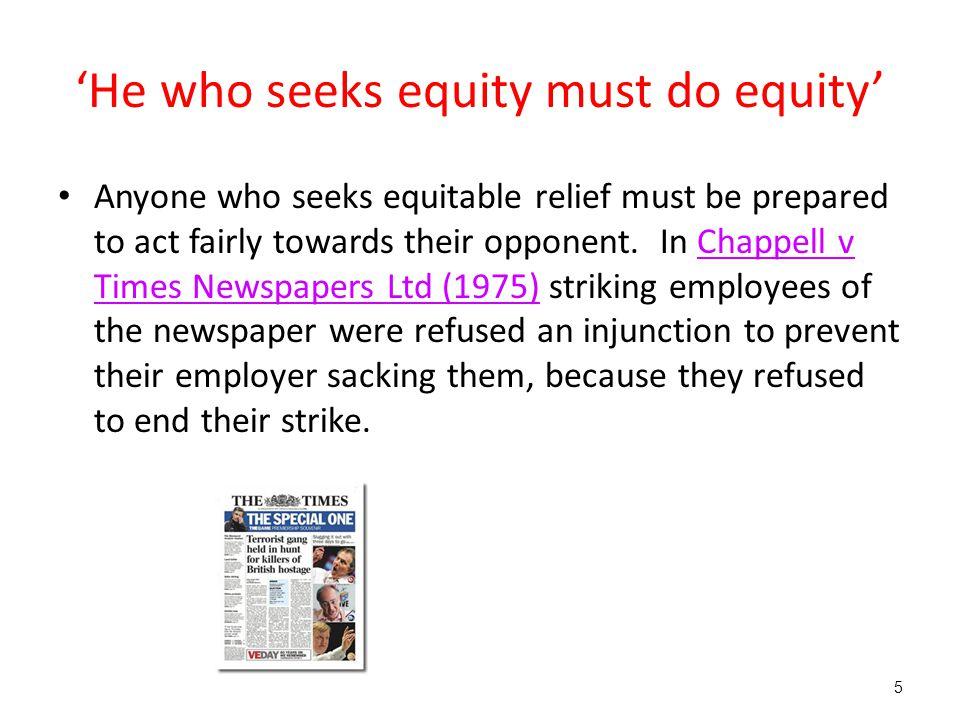 'He who seeks equity must do equity'