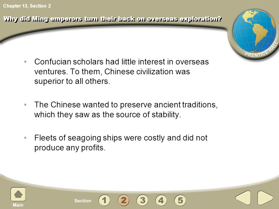 Why did Ming emperors turn their back on overseas exploration