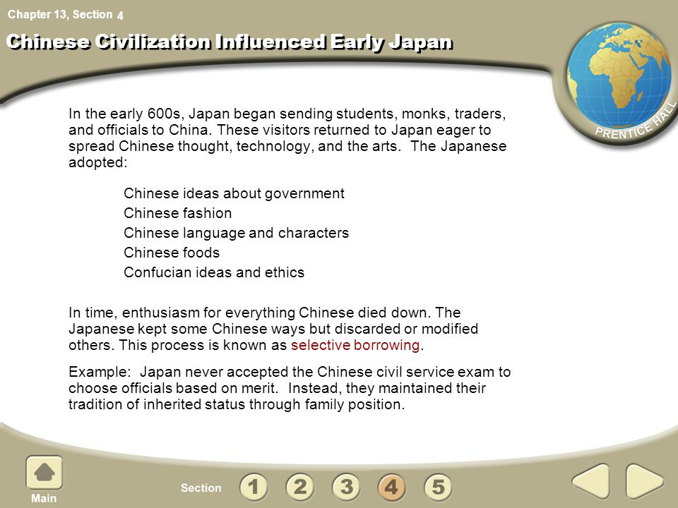 Chinese Civilization Influenced Early Japan