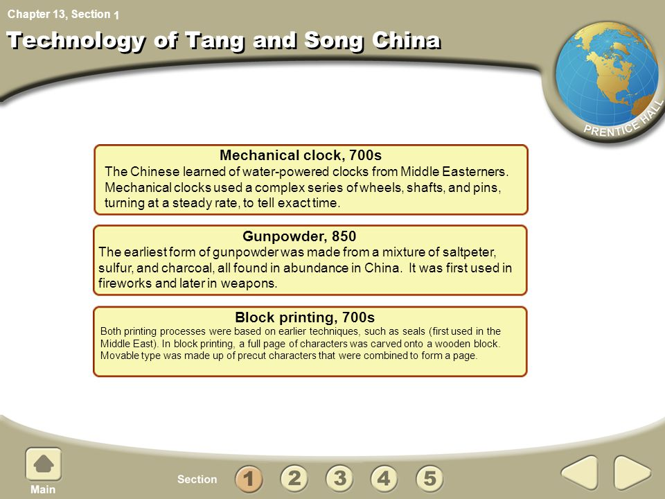 Technology of Tang and Song China