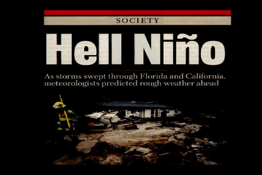 Slides from 1982-'83 El Niño