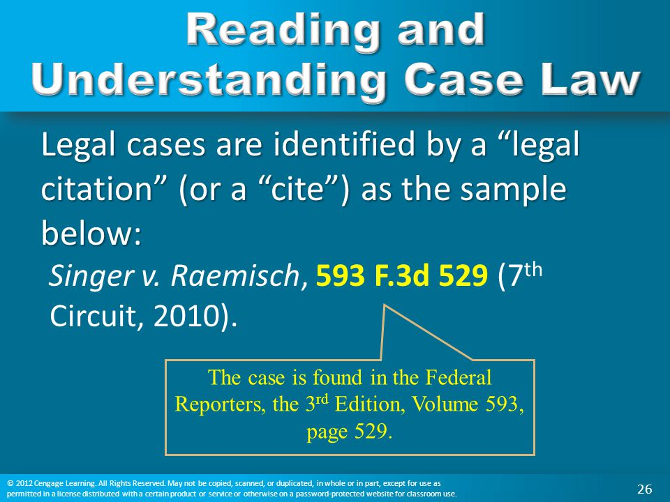 Reading and Understanding Case Law