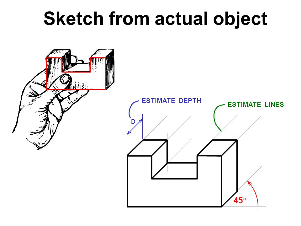 Sketch from actual object