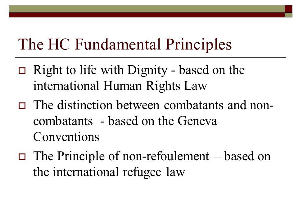 The HC Fundamental Principles