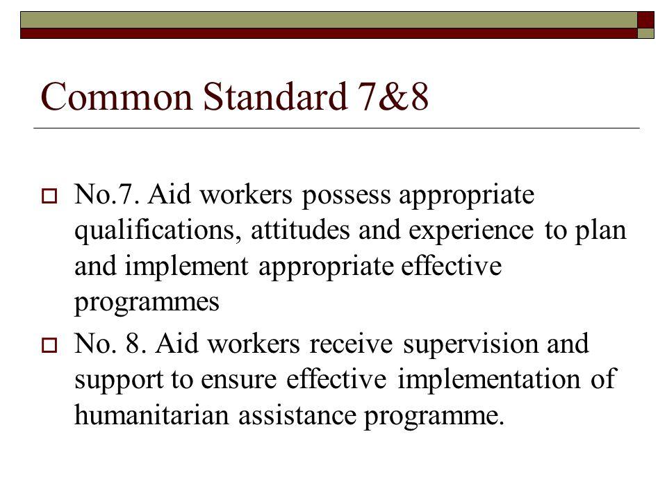 Common Standard 7&8