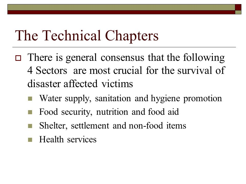 The Technical Chapters