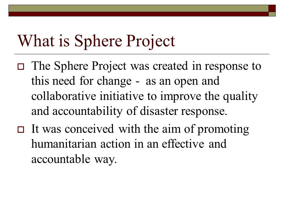 What is Sphere Project