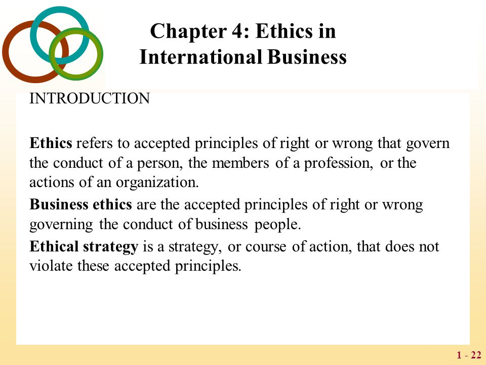 Chapter 4: Ethics in International Business