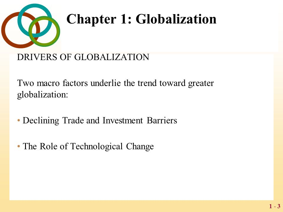 Chapter 1: Globalization