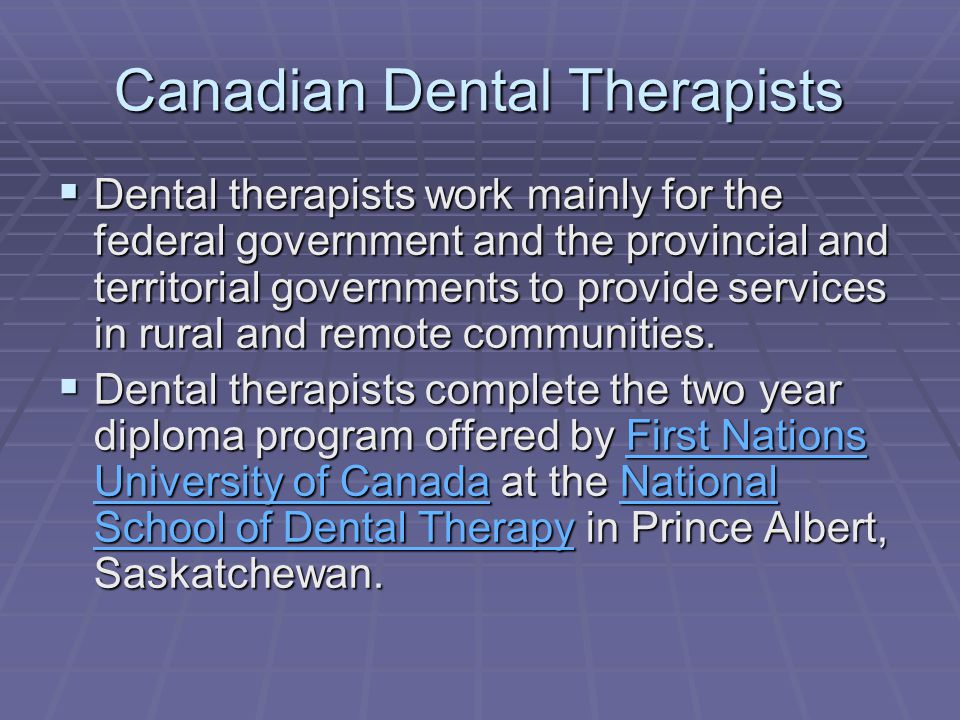 Canadian Dental Therapists