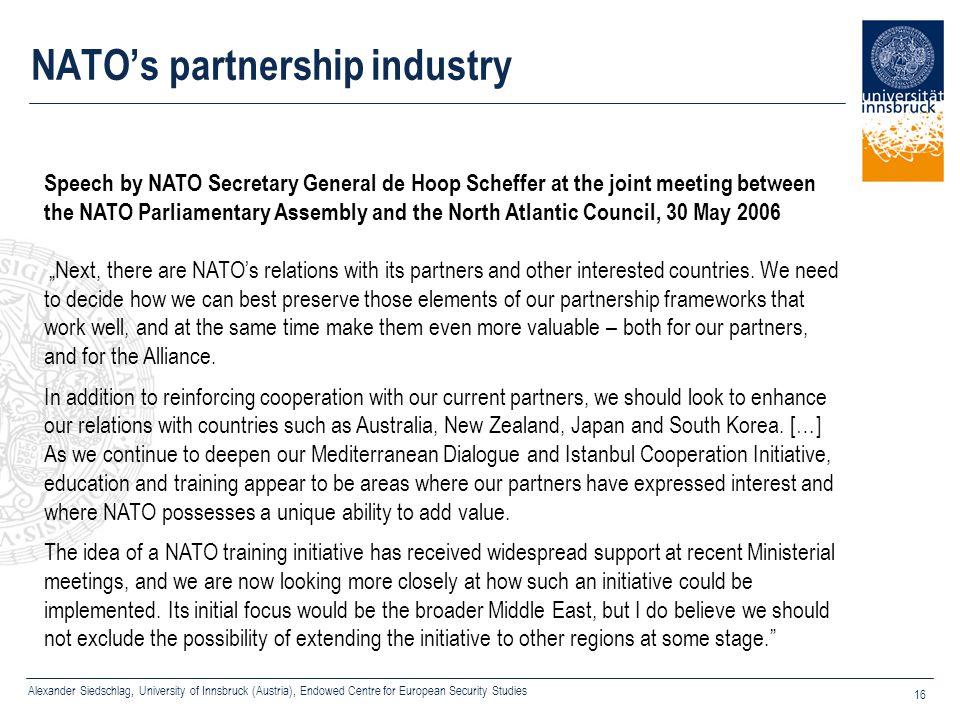 NATO's partnership industry