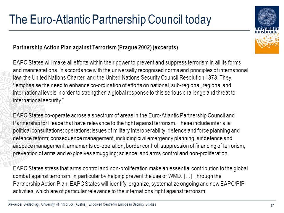 The Euro-Atlantic Partnership Council today