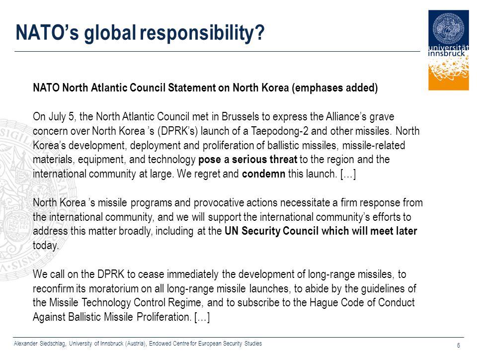 NATO's global responsibility