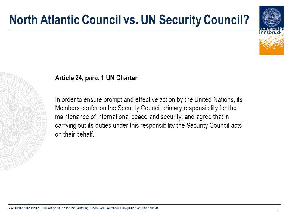 North Atlantic Council vs. UN Security Council