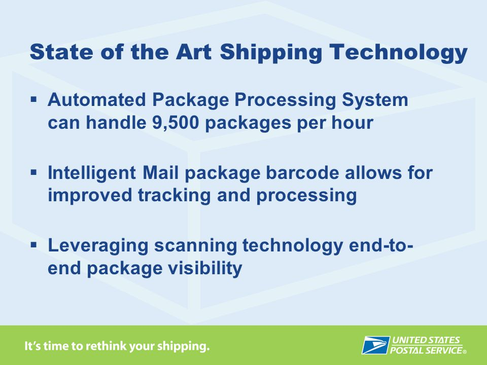 State of the Art Shipping Technology