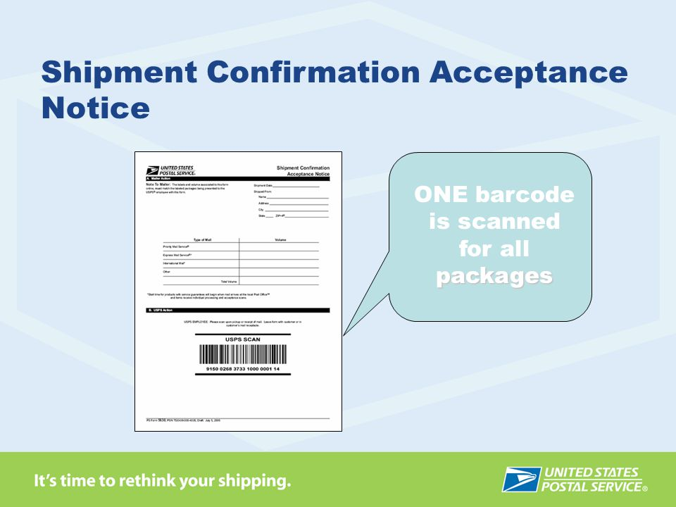 Shipment Confirmation Acceptance Notice