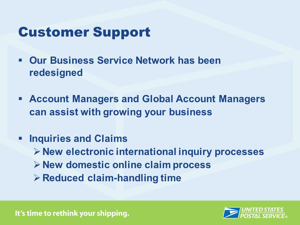 Customer Support Our Business Service Network has been redesigned