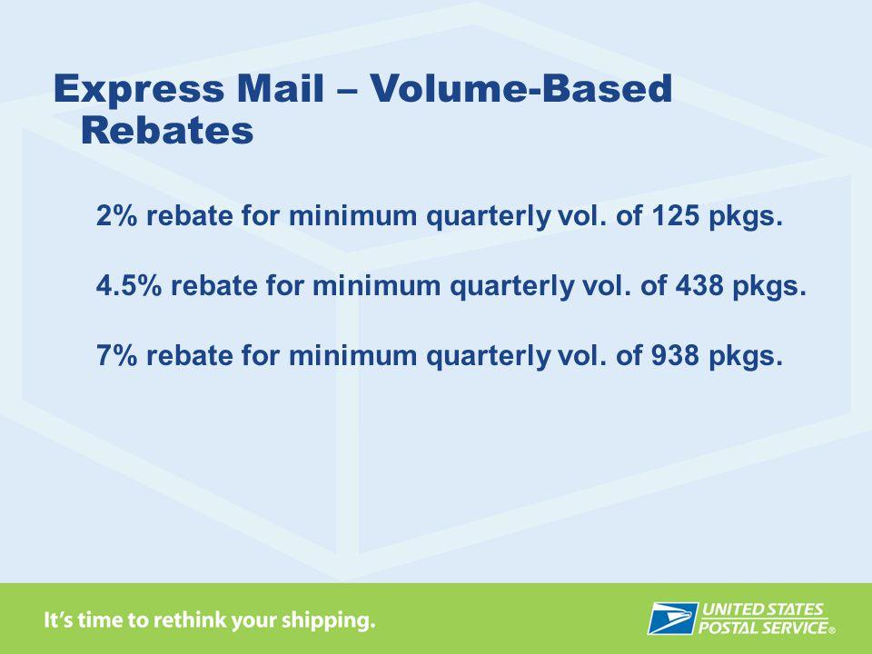 Express Mail – Volume-Based Rebates