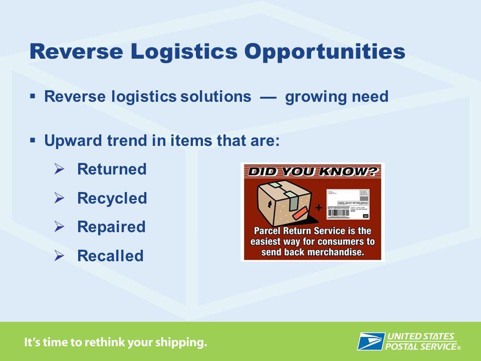 Reverse Logistics Opportunities