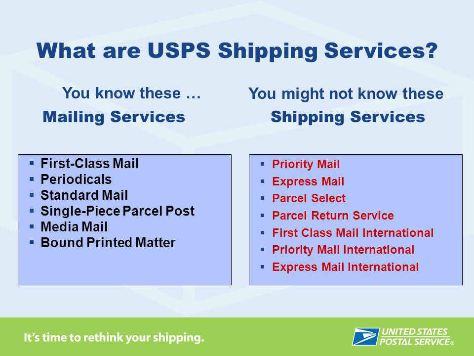 What are USPS Shipping Services You might not know these