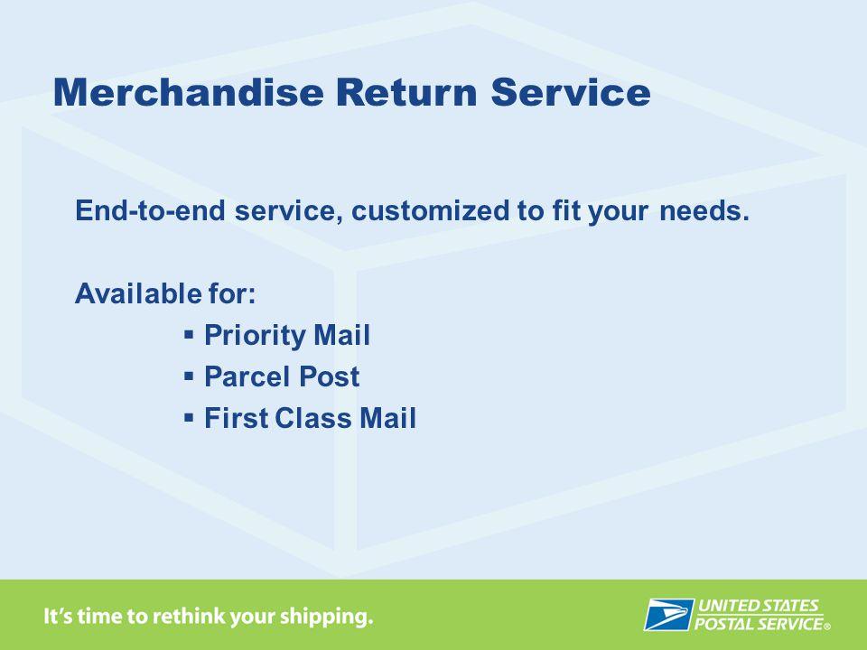 Merchandise Return Service