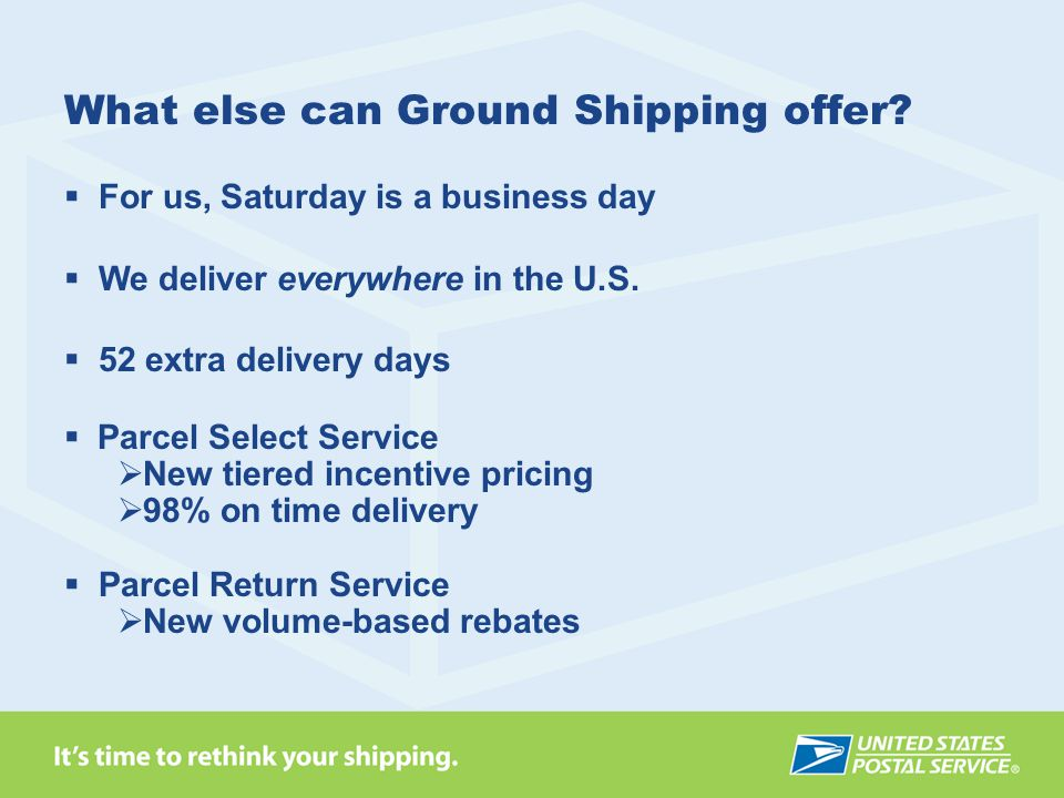 What else can Ground Shipping offer