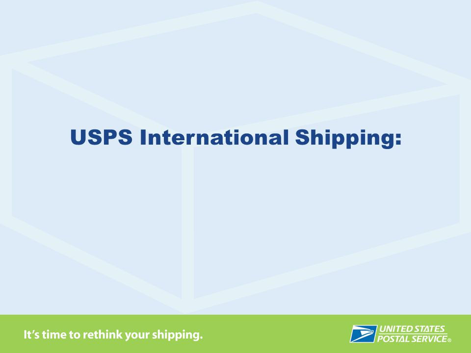 USPS International Shipping: