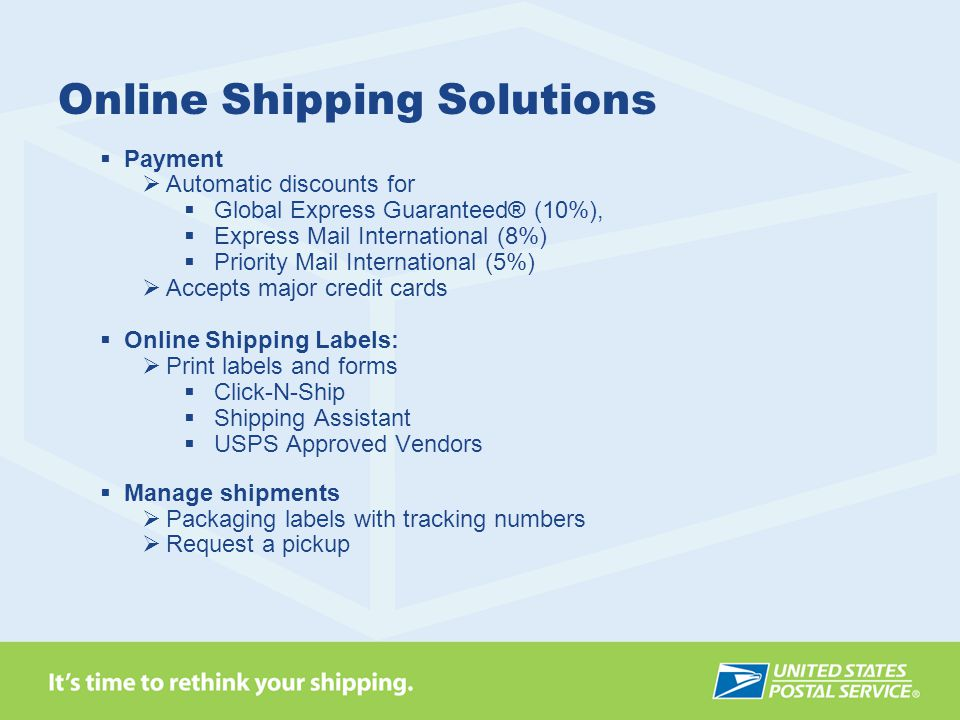 Online Shipping Solutions