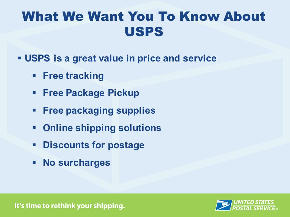 What We Want You To Know About USPS