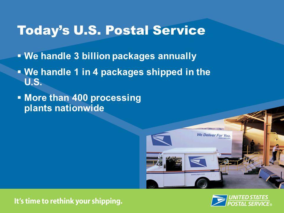 Today's U.S. Postal Service