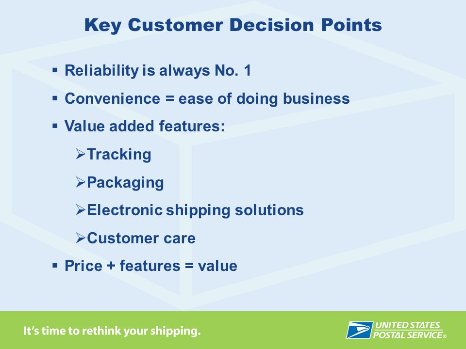 Key Customer Decision Points