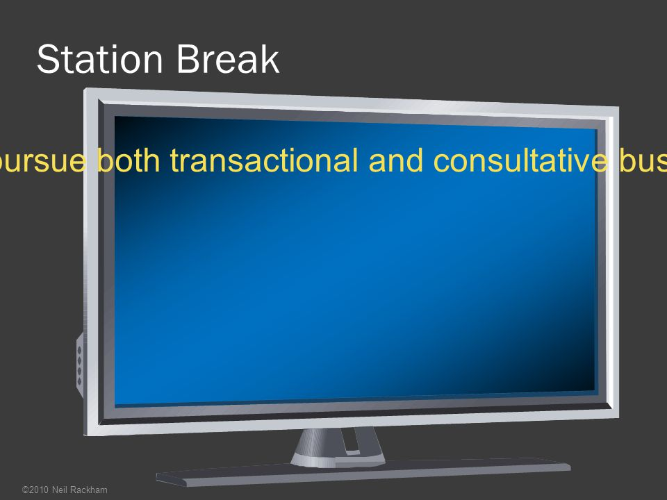 Station Break Most sales forces have hybrid salespeople who pursue both transactional and consultative business. Does it work