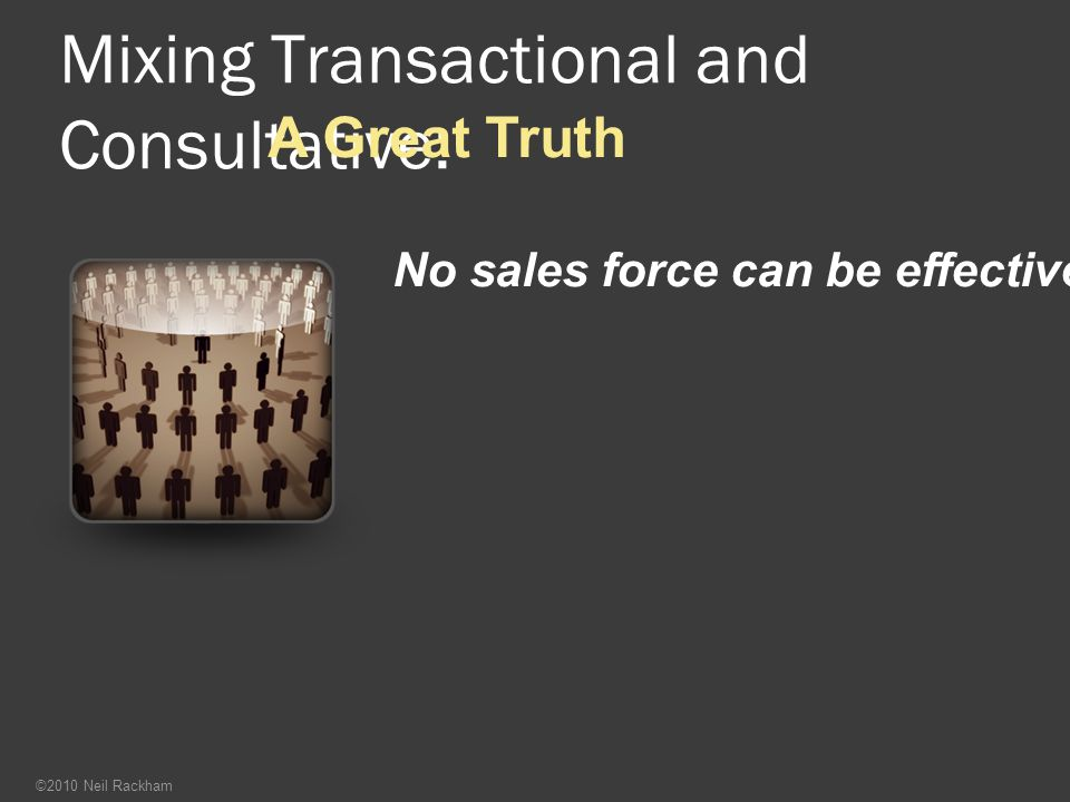 Mixing Transactional and Consultative:
