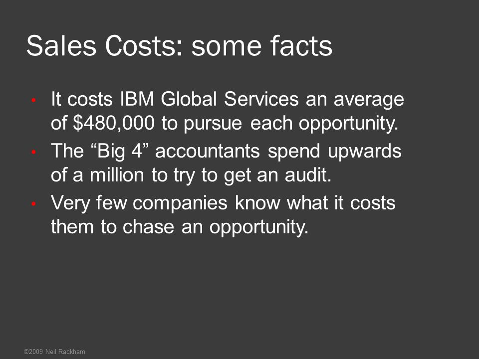 Sales Costs: some facts