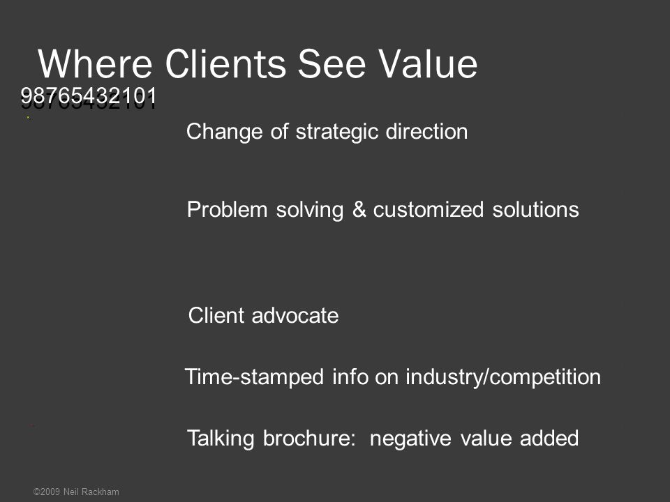 Where Clients See Value