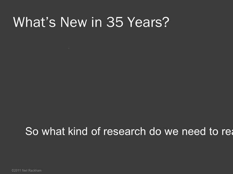 What's New in 35 Years. So what kind of research do we need to reach the next milestone.