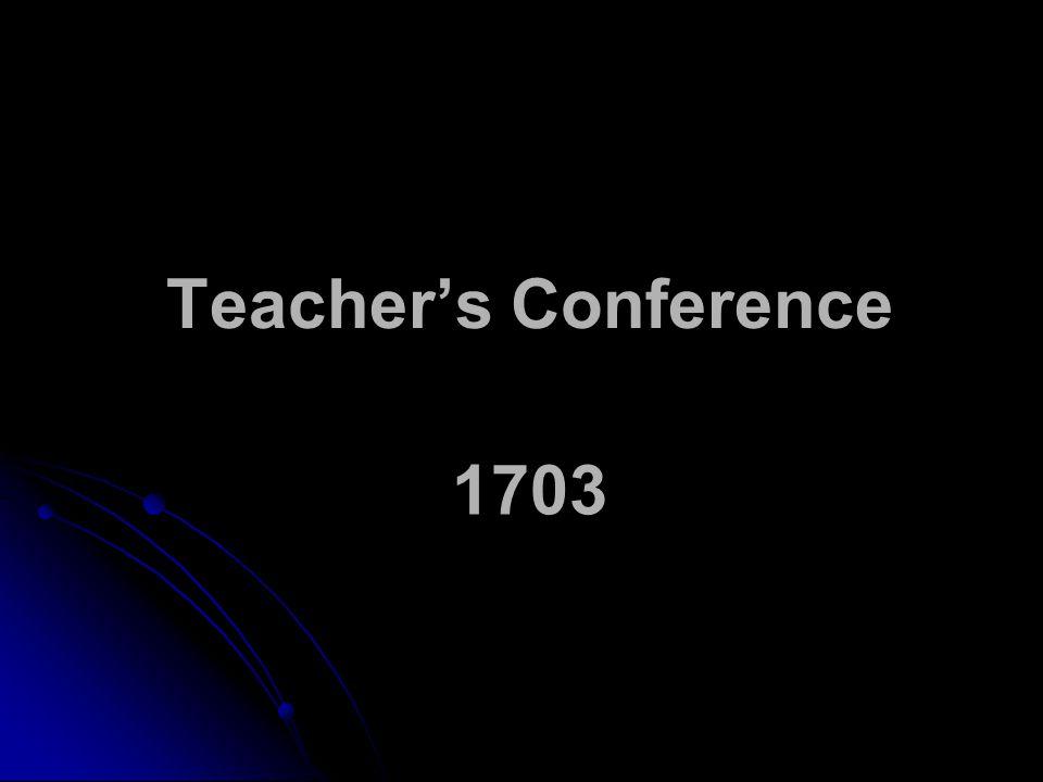 Teacher's Conference 1703