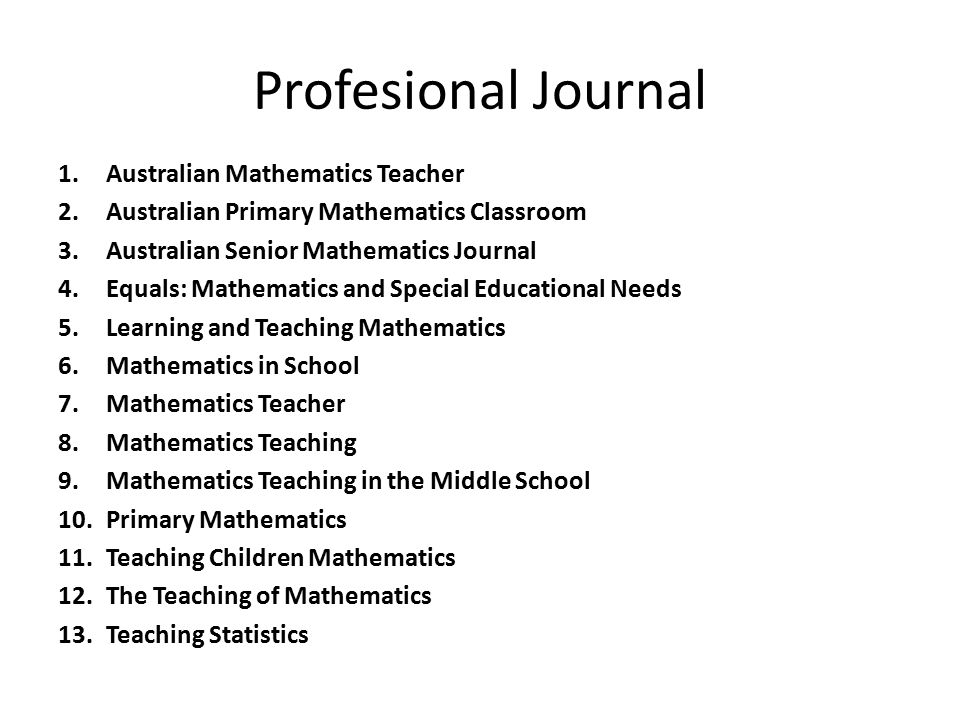 Profesional Journal Australian Mathematics Teacher