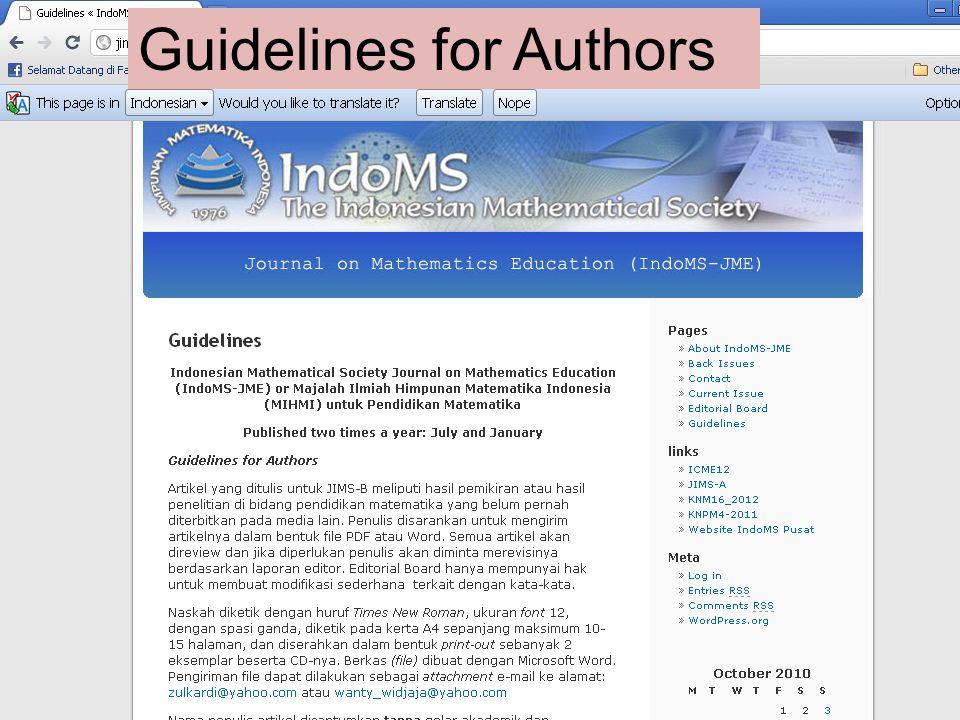 Guidelines for Authors