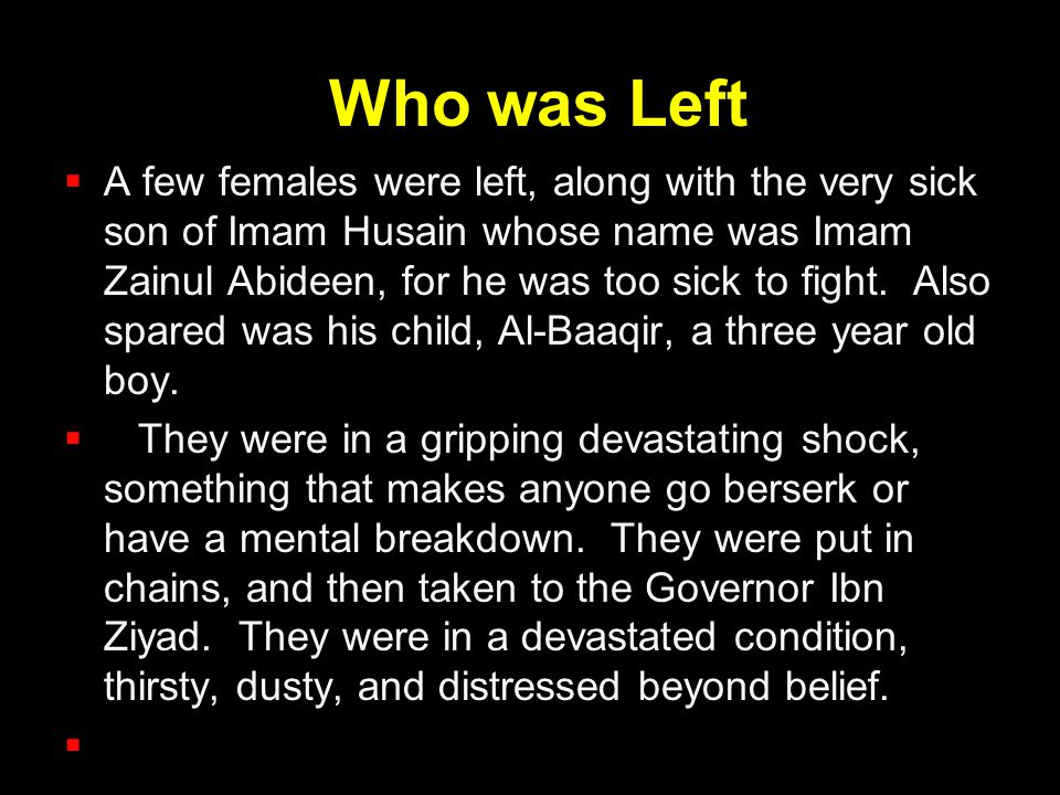 Who was Left