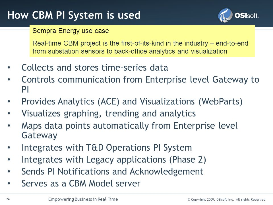 How CBM PI System is used