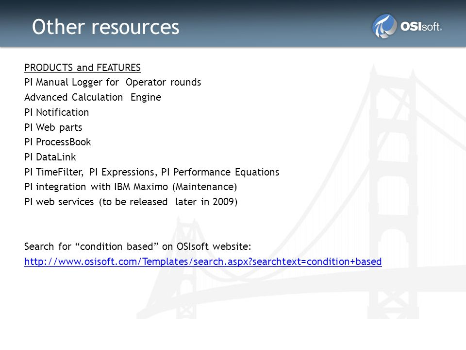 Other resources PRODUCTS and FEATURES