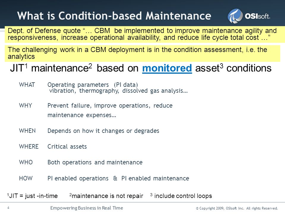 What is Condition-based Maintenance